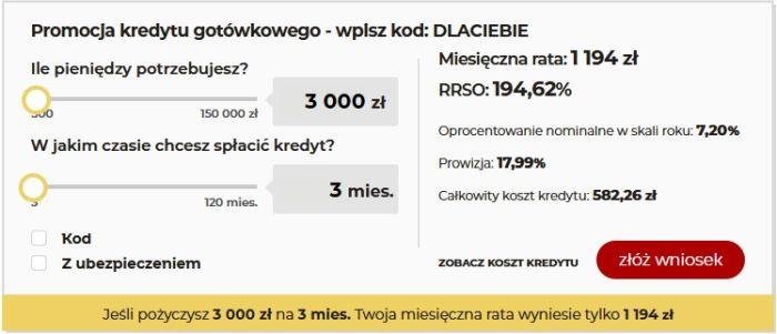 Chwilówki przez internet - porównanie mbank